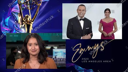 "The Los Angeles Area Emmy for Regularly Scheduled Daily Morning Newscast: 4:00 AM-11:00 AM was presented by veteran LA weatherman Fritz Coleman and went to two winners this year - Guillermo Ochoa and Alejandra Ortiz accepted for KVEA's ""Noticiero Telemundo 52 a las 6 AM"" and Angie Torres accepted for KMEX's ""A Primera Hora"" -- during the 2020 Los Angeles Area Emmy Awards, on Saturday, July 18 and streamed live on Emmys.com"