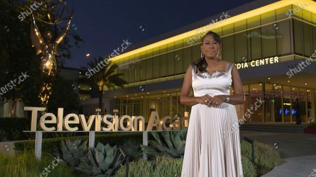 Stock Photo of Pat Harvey hosts the 2020 Los Angeles Area Emmy Awards, which was pre-recorded at the Television Academy campus in North Hollywood, CA, and streamed on Emmys.com on