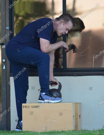 Stock Image of Ray Liotta working out at Golds Gym