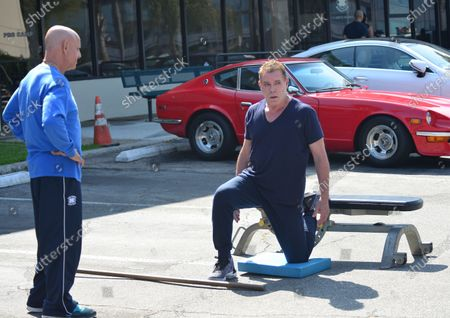 Ray Liotta working out at Golds Gym