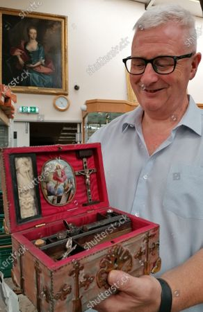 Editorial photo of Vampire box at Hansons Auctioneers, Derby, UK - 21 Jul 2020