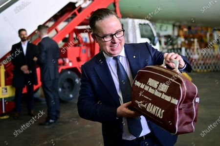 Qantas CEO Alan Joyce during an official farewell event for the Qantas 747 fleet at Sydney Airport in Sydney, aAustralia, 22 July 2020. The iconic aircraft type is being retired from the Qantas fleet after almost 50 years of service.