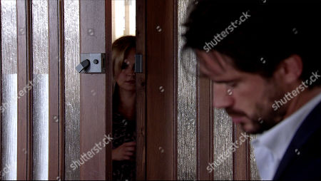 Coronation Street - Ep 10092 Friday 24th July 2020 Sarah Barlow, as played by Tina O'Brien, is furious to find Adam Barlow, as played by Sam Robertson, flirting with Laura Neelan in the solicitor's office and even angrier when he explains she is Rick's wife.