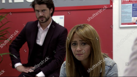 Coronation Street - Ep 10095 Friday 31st July 2020 Adam Barlow, as played by Sam Robertson, and a panicky Maria Connor, as played by Samia Longchambon, arrive at the hospital. Sarah Barlow describes how she was on her phone, stepped out in front of a van and Gary saved her life.