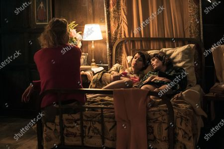 Jessica Swale Director, Gugu Mbatha-Raw and Gemma Arterton as Alice