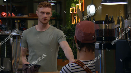 Emmerdale - Ep 8816 Monday 3rd August 2020 Luke Posner, as played by Max Parker, suggests to Victoria Sugden, as played by Isabel Hodgins, that he cancel his date with Amy, but Victoria hides her true feelings and encourages him not to.
