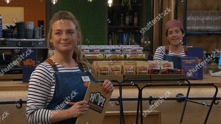 Emmerdale - Ep 8815 Friday 31st July 2020 Victoria Sugden's, as played by Isabel Hodgins, relieved when Luke Posner helps out with the order at HOP. As they chat, Amy Wyatt, as played by Natalie Ann Jamieson, notices a charged moment between them and starts to formulate a plan.