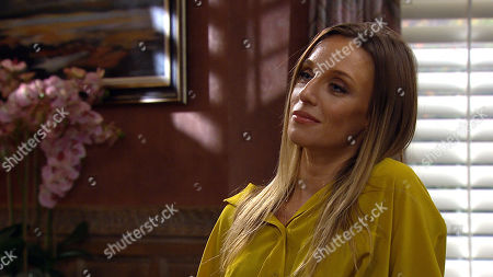 Emmerdale - Ep 8813 Monday 27th July 2020 Jamie Tate arrives home emboldened by Jai's advice and convinces Andrea Tate, as played by Anna Nightingale, forces he wants to be with her, covering his true feelings of hate.