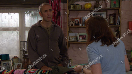 Emmerdale - Ep 8818 Friday 7th August 2020 Sam Dingle, as played by James Hooton, lets the news get out about Lydia Dingle's, as played by Karen Blick, Huntington's test.