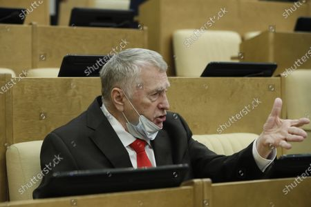 Russian Liberal Democratic Party (LDPR) leader Vladimir Zhirinovsky attends a plenary session of the Russian State Duma (lower parliament house) in Moscow, Russia, 22 July 2020.