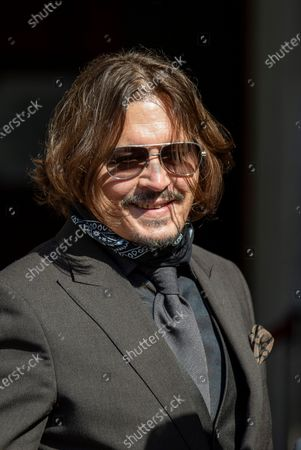 Johnny Depp attends his libel trial against The Sun newspaper and its executive editor, Dan Wootton at the Royal Courts of Justice in London.