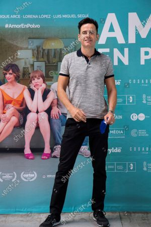 Luis Miguel Segui poses for the photographer during the presentation of the film 'Amor en Polvo' (Powdered Love) in Madrid, Spain, 22 July 2020. The movie, shot in 17 days, will open in Spanish cinemas on 24 July.