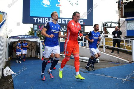 Stock Photo of Kristian Pederson and Lee Camp of Birmingham City