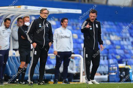 Steve Spooner, interim manager of Birmingham City and coach Craig Gardner