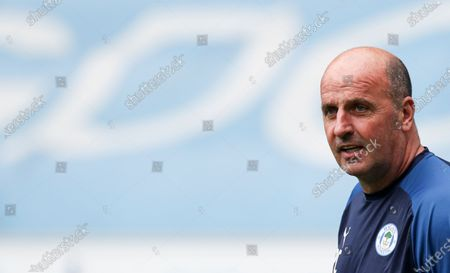 Stock Picture of Paul Cook manager of Wigan Athletic before the start of the match