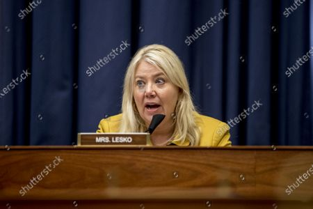 Rep. Debbie Lesko (R-AZ), speaks as Federal Emergency Management Agency Administrator Peter Gaynor testifies before a House Committee on Homeland Security meeting on the national response to the coronavirus pandemic on Capitol Hill in Washington, 22 July 2020.
