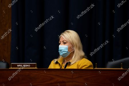 Rep. Debbie Lesko, R-Ariz., listens during a House Committee on Homeland Security meeting on Capitol Hill in Washington, on the national response to the coronavirus pandemic