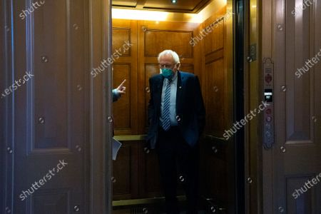 United States Senator Bernie Sanders (Independent of Vermont) leaves the Senate floor following votes at the U.S. Capitol in Washington D.C., U.S..