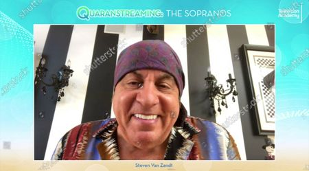 "Stock Photo of The Sopranos"" actor Steven Van Zandt took part in the Television Academy's streaming member event, ""Quaranstreaming: Comfort TV That Keeps Us Going,"", which is now available for public viewing at emmys.com"