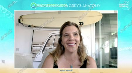 """Grey's Anatomy"""" executive producer/showrunner Krista Vernoff took part in the Television Academy's streaming member event, """"Quaranstreaming: Comfort TV That Keeps Us Going,"""", which is now available for public viewing at emmys.com"""