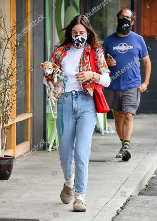 Stock Picture of Scout LaRue Willis and Jake Miller go out for coffee