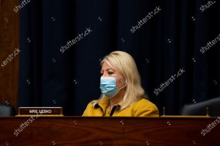 United States Representative Debbie Lesko (Republican of Arizona) listens during a hearing with Peter T. Gaynor, Administrator of Federal Emergency Management Agency (FEMA) and the House Committee on Homeland Security on Capitol Hill in Washington DC.