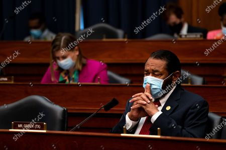 United States Representative Al Green (Democrat of Texas) listens during a hearing with Peter T. Gaynor, Administrator of Federal Emergency Management Agency (FEMA) and the US House Committee on Homeland Security on Capitol Hill in Washington DC.