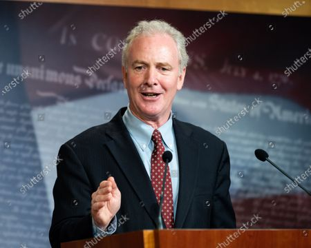 Stock Picture of U.S. Senator Chris Van Hollen (D-MD) speaks at a press conference on the need for expanded eviction protections in the next coronavirus bill.