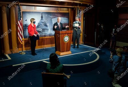 Stock Photo of U.S. Senator Chris Van Hollen (D-MD) speaks at a press conference on the need for expanded eviction protections in the next coronavirus bill.