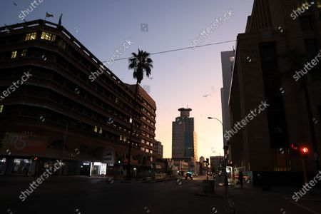 Photo taken on July 22, 2020 shows the quiet Central Business District in Harare, Zimbabwe. Zimbabwean President Emmerson Mnangagwa on Tuesday announced a raft of more strict lockdown measures including imposing a curfew from 6 pm to 6 am to curb rising cases of COVID-19.