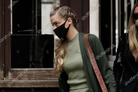 """Whitney Heard, the sister of American actress Amber Heard, arrives on the day she is due to give evidence at the High Court in London, . Actor Johnny Depp is suing News Group Newspapers, publisher of The Sun, and the paper's executive editor, Dan Wootton, over an April 2018 article that called him a """"wife-beater."""" Depp strongly denies the allegations"""