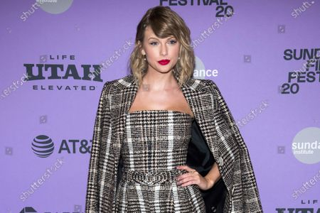 """Taylor Swift at the premiere of """"Taylor Swift: Miss Americana"""" in Park City, Utah. Swift has a new album coming out on Friday called """"Folklore."""" She says the standard edition will include 16 tracks and the album will feature Bon Iver, Aaron Dessner of The National and frequent collaborator Jack Antonoff"""