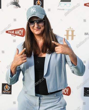 """Honey G attends the World Premiere of the """"Break"""" Drive-In at Brent Cross Shopping Centre in London."""