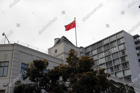 Exterior view of the Chinese consulate in San Francisco, California, USA, 23 July 2020. The FBI alleges that a biology researcher linked to the Chinese military is taking refuge in the Chinese consulate to avoid getting arrested for visa fraud.