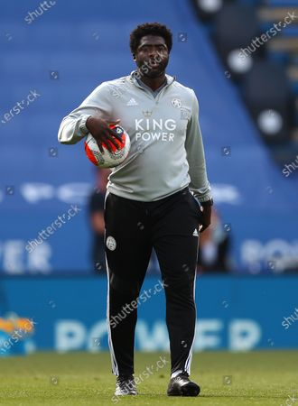 Stock Picture of Leicester City First Team Coach, Kolo Toure is seen ahead the Premier League match between Leicester City and Sheffield United at King Power Stadium. (Final Score; Leicester City 2 - 0 Sheffield United)