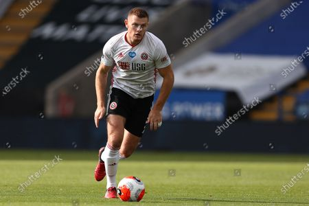 Jack O'Connell of Sheffield United in action during the Premier League match between Leicester City and Sheffield United at King Power Stadium. (Final Score; Leicester City 2 - 0 Sheffield United)