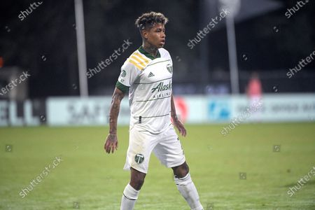 Stock Picture of Portland Timbers forward Andy Polo (7) sets up for a play during the second half of an MLS soccer match against the Los Angeles FC, in Kissimmee, Fla
