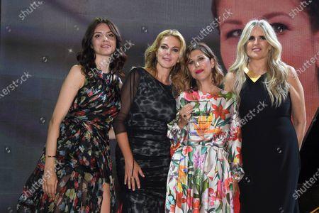 Stock Picture of Ilenia Pastorelli, Claudia Gerini, Michela Andreozzi, Tiziana Rocca