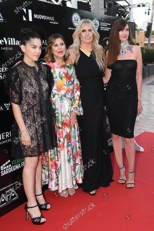 Tiziana Rocca with Carol Alt and Selene Caramazza, Michela Andreozzi