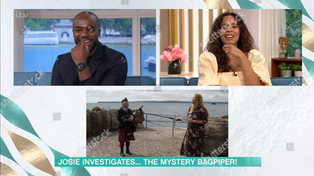 Ore Oduba, Rochelle Humes, Mystery Bagpiper and Josie Gibson