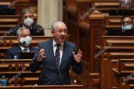 Portugal's Social Democratic Party president and opposition leader Rui Rio speaks during the State of Nation debate at Parliament House in Lisbon, Portugal, 24 July 2020.