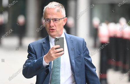 Former Head of Investor Relations at Barclays PLC, Stephen Jones arrives at the High Court  in London, Britain, 24 July 2020. PCP Capital owner Amanda Staveley brought a lawsuit against Barclays Plc as she claims the bank owes her up to  1.6 bilion British pounds after she was excluded from a major investment back in 2008.