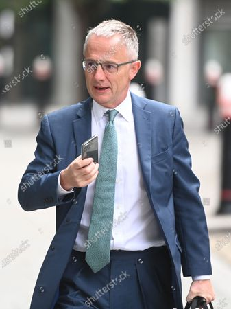 Stock Image of Former Head of Investor Relations at Barclays PLC, Stephen Jones arrives at the High Court  in London, Britain, 24 July 2020. PCP Capital owner Amanda Staveley brought a lawsuit against Barclays Plc as she claims the bank owes her up to  1.6 bilion British pounds after she was excluded from a major investment back in 2008.