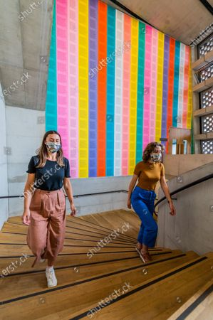 Stock Image of Jenny Holzer, [no title] 1979-82 - The Tate Modern re-opens on Monday. Visitors are asked to follow guidance on social distancing, one way systems etc, in line with advice from government following the easing of the lockdown.