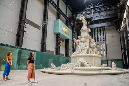 Stock Picture of Hyundai Commission: KaraWalker: Fons Americanus, 2019 - The Tate Modern re-opens on Monday. Visitors are asked to follow guidance on social distancing etc, in line with advice from government following the easing of the lockdown.
