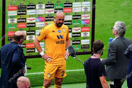 Editorial image of West Ham United v Aston Villa, Premier League, Football, London Stadium, London, UK - 26 Jul 2020