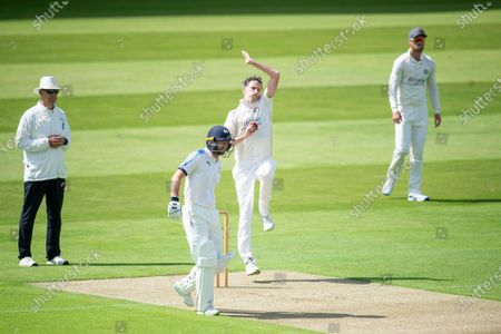 Stock Photo of Lancashire's Graham Onions bowling against Yorkshire.
