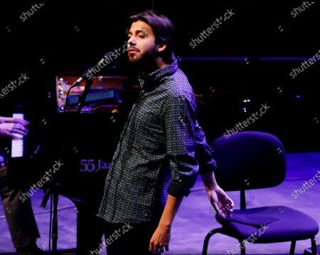 Editorial image of Portuguese crooner Salvador Sobral takes to the stage at San Sebastian Jazz Festival 2020, Spain - 24 Jul 2020