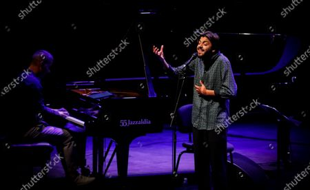 Editorial photo of Portuguese crooner Salvador Sobral takes to the stage at San Sebastian Jazz Festival 2020, Spain - 24 Jul 2020