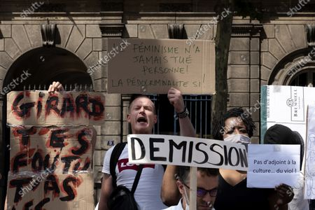 Editorial image of Protests against Christophe Girard, Paris, France - 23 Jul 2020